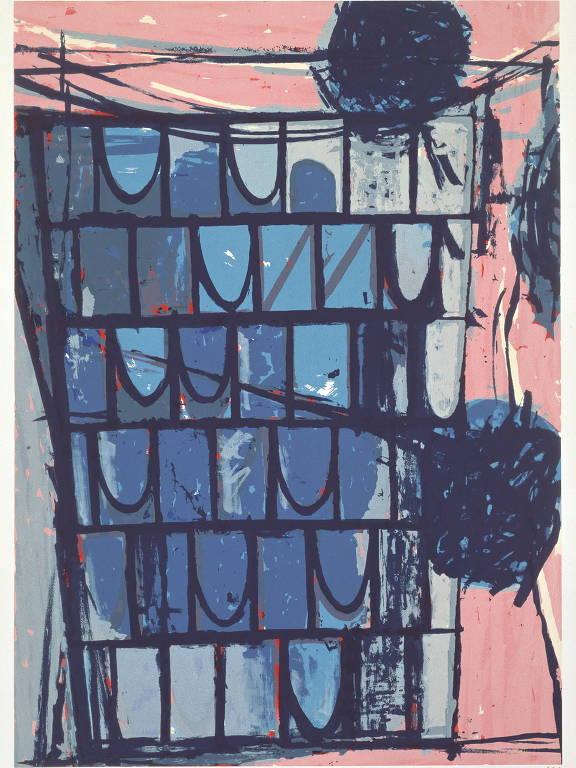 """Gravura de Toeko Tatsuno, em exibição na mostra """"Variação e Autonomia"""", do CCSP"""