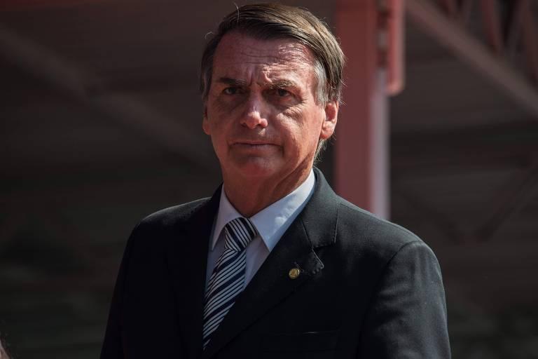 O presidenciável Jair Bolsonaro (PSL), durante evento em São Paulo no início do mês