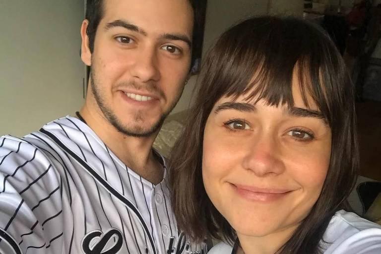 No útlimo Dia das Mães, a atriz compartilhou uma foto ao lado do filho, que vestiu a camisa do Corinthians pela primeira vez