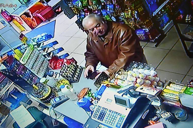 O ex-espião russo Serguei Skripal poucos dias antes do envenenamento
