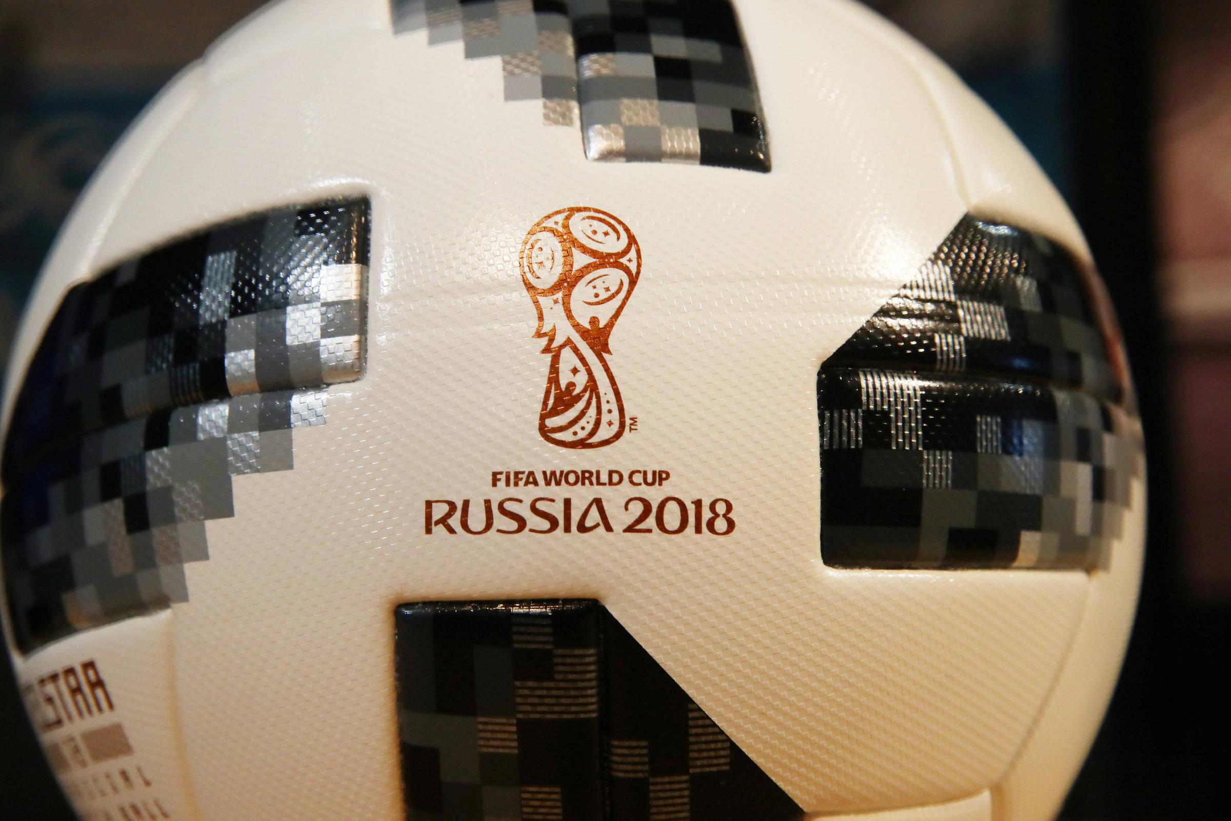 A Telstar-18, bola que será utilizada na Copa do Mundo da Rússia
