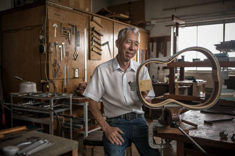 O luthier japonês Shigemitsu Sugiyama criou instrumentos para Chico Buarque, Paulinho da Viola e João Bosco, entre outros talentos da MPB