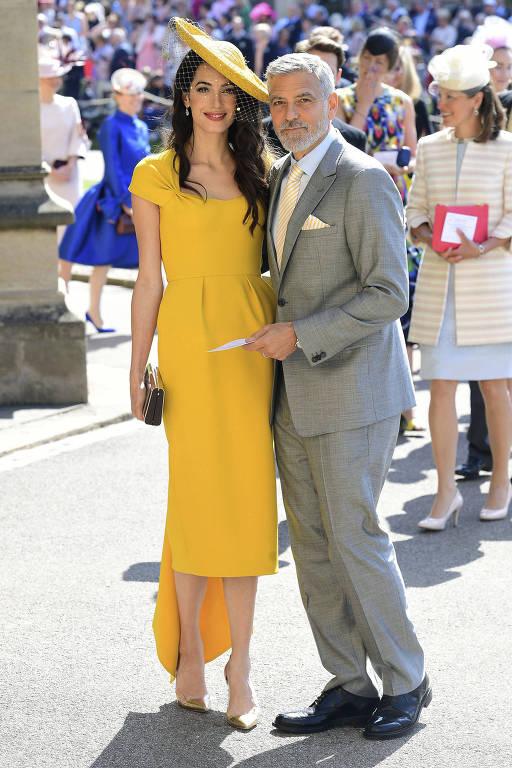 Famosos chegam ao casamento real de príncipe Harry e Meghan Markle