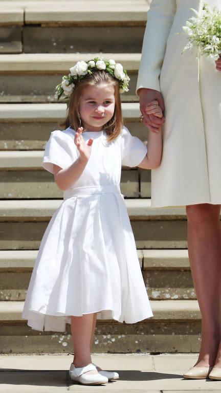 A cerimônia de casamento na à capela de São George