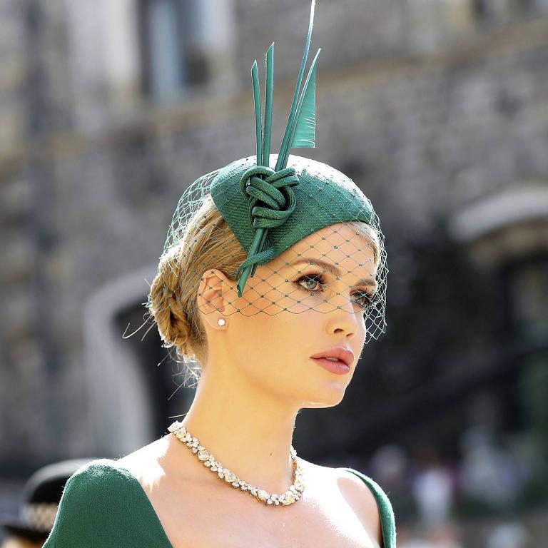 Chapéus das convidadas do casamento real