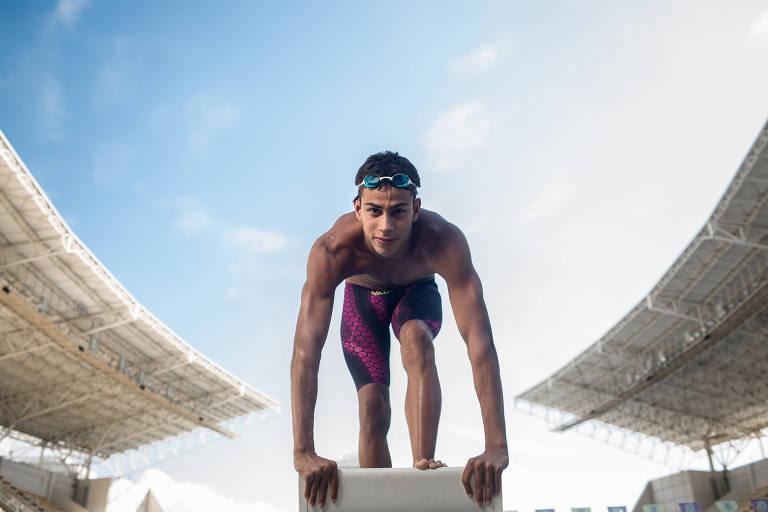 Guilherme Costa / Nascimento: 1º.out.1998, em Itaguaí (RJ) / Defende o Minas Tênis Clube / Especialista nos 800 m e 1.500 m livre