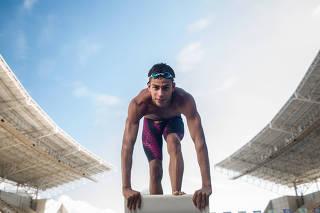 O nadador Guilherme Costa