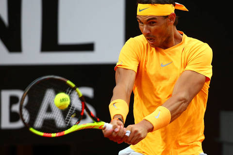 Tennis - ATP World Tour Masters 1000 - Italian Open - Foro Italico, Rome, Italy - May 20, 2018  Spain's Rafael Nadal in action during the final against Germany's Alexander Zverev  REUTERS/Tony Gentile ORG XMIT: AI