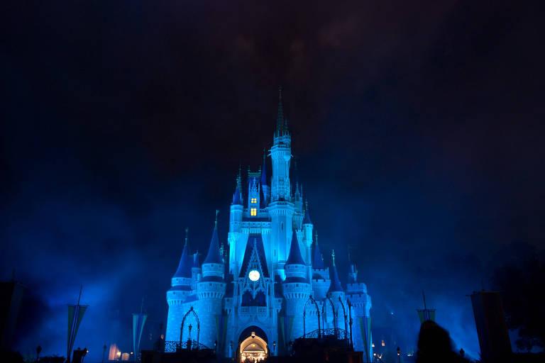 Castelo da Cinderela, na Disney
