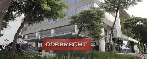This April 12, 2018 photo, shows the facade of the Odebrecht headquarters in Sao Paulo, Brazil. Odebrecht ran a scheme that was stunning even by standards in Latin America, a region with a long history of endemic graft, it wasn't the first time that compnay was accused of plying pockets to win favors. Bribery cases against the company in Brazil go back to the early 1990s. (AP Photo/Andre Penner) ORG XMIT: XLAT308