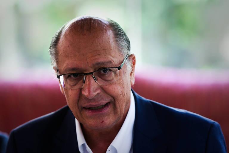 O pré-candidato Geraldo Alckmin, que chamou de absurda a acusação de caixa dois em sua campanha