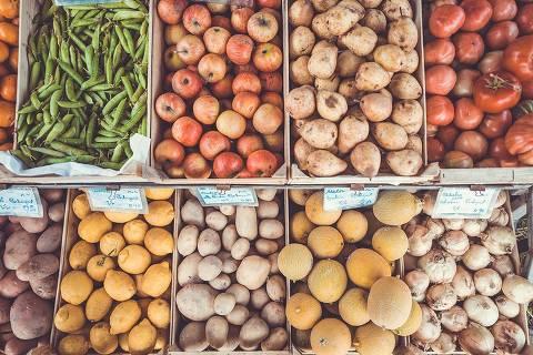 Vegetais na feira