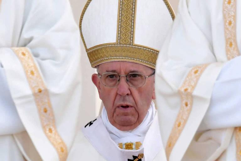 Papa Francisco em celebração no Santuário de Fátima, em Portugal