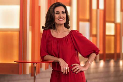 Celebridades 26.06.2017 - A apresentadora Fátima Bernardes no set do programa