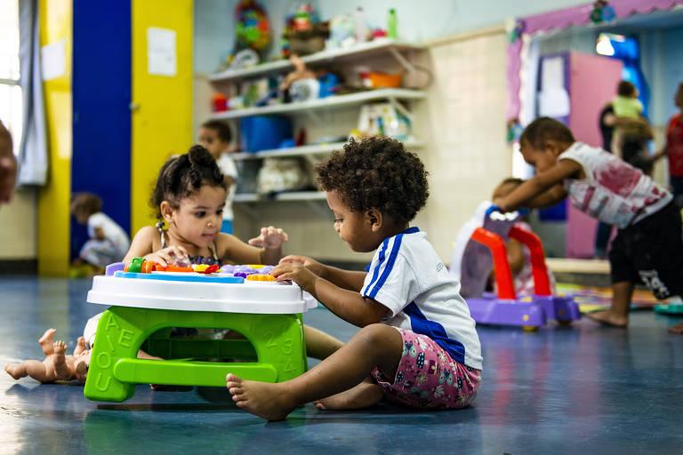 Alunos atendidos na creche Silvanete da Silva Rosa Rocha, em Vitoria, cidade onde 71% das crianças de 0 a 3 anos estão matriculadas
