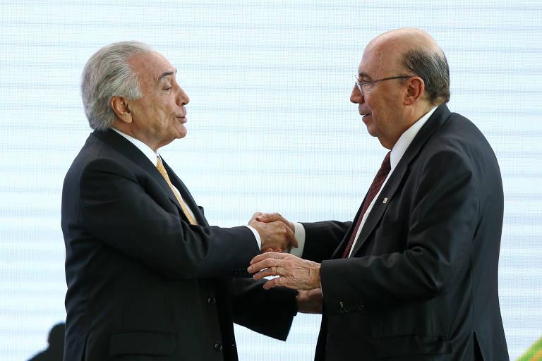 O presidente Michel Temer participa de encontro na sede do MDB em que anunciou a candidatura de Meirelles