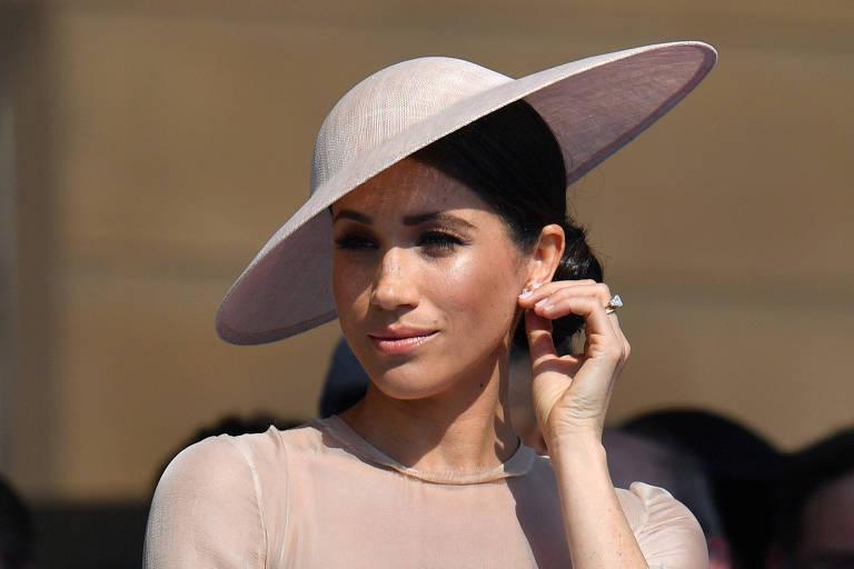 A princesa Meghan Markle, em sua primeira aparição pública após o casamento
