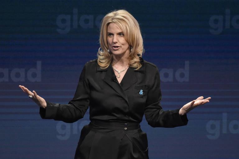 A presidente da GLAAD, Sarah Kate Ellis