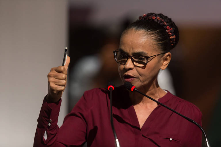 A presidenciável Marina Silva (Rede), que ironizou a baixa popularidade do presidente Temer