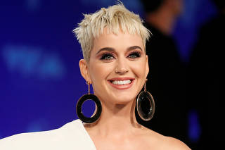 FILE PHOTO: Singer Katy Perry arrives at the 2017 MTV Video Music Awards in Inglewood California