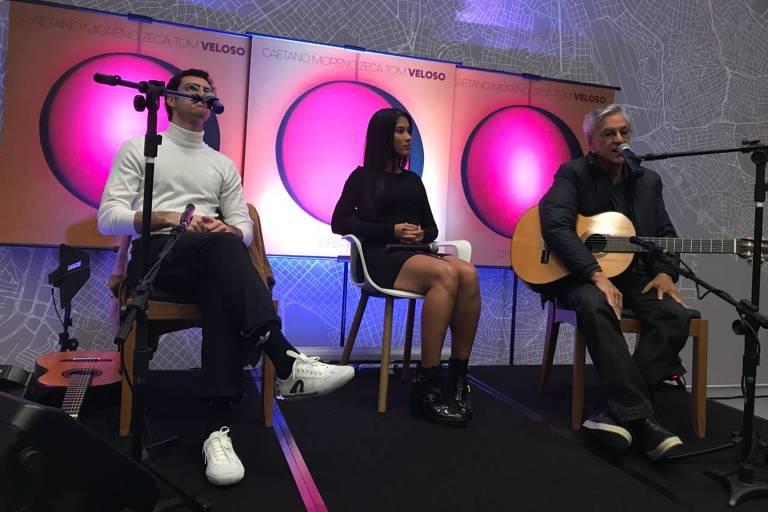 Thaynara OG participa de evento com Caetano Veloso e o filho do músico, Zeca