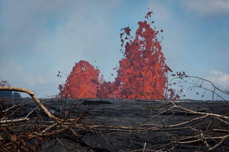 Vulcão Kilauea em erupção no Havaí