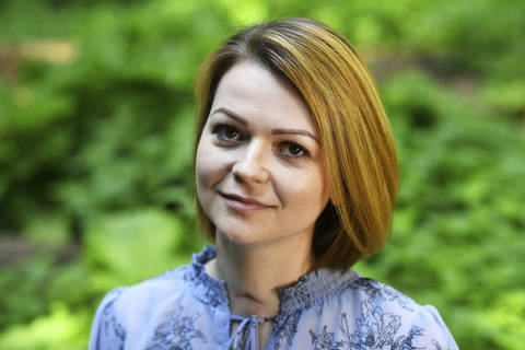 Yulia Skripal poses for the media during an interview in n London, Wednesday May 23, 2018. Yulia Skripal says recovery has been slow and painful, in first interview since nerve agent poisoning. (Dylan Martinez/Pool via AP) ORG XMIT: LON108