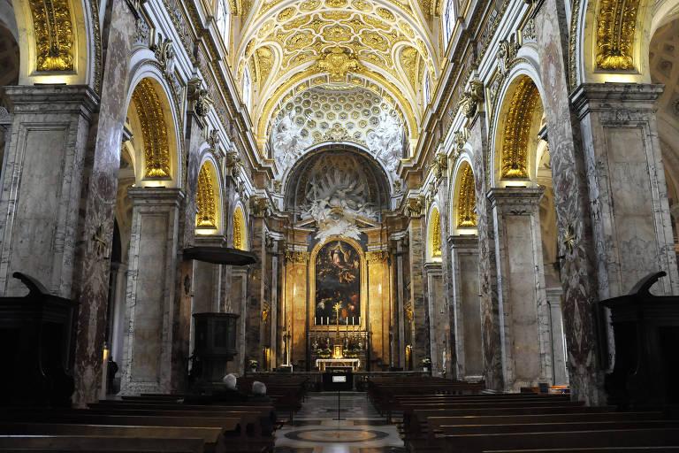 Interior da Igreja de São Luís dos Franceses, em Roma