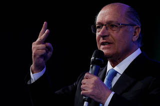 Pre-candidate for Brazil's Presidency Geraldo Alckmin attends an event with mayors in Brasilia