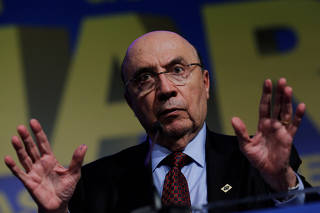 Presidential candidate for Brazilian Democratic Movement party (MDB), Henrique Meirelles attends an event with mayors in Brasilia