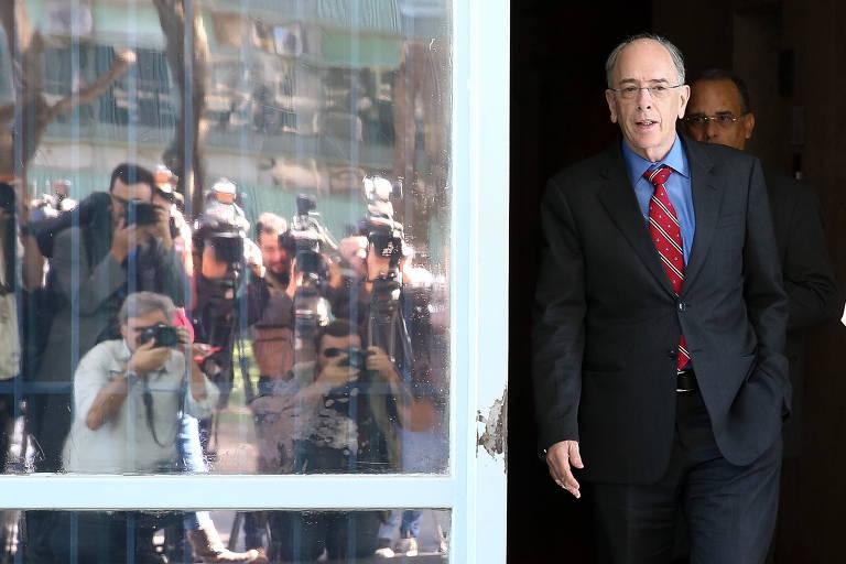 O presidente da Petrobras, Pedro Parente, após reunião sobre combustíveis em Brasília
