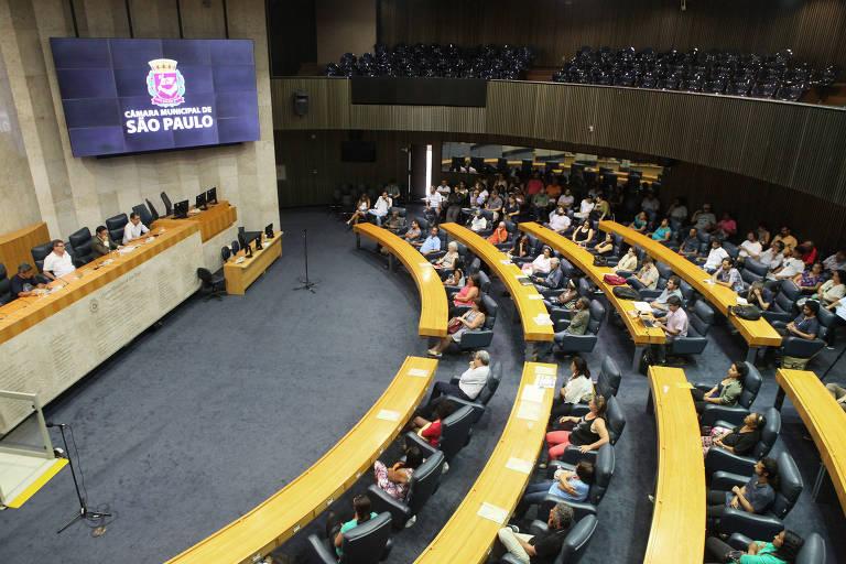 Audiência pública na Câmara Municipal de São Paulo