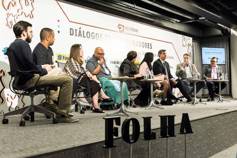 Participantes do 'Diálogos Transformadores' debateram 'Tecnologias Sociais: Soluções que Mudam Realidades', nesta quarta (23), em São Paulo