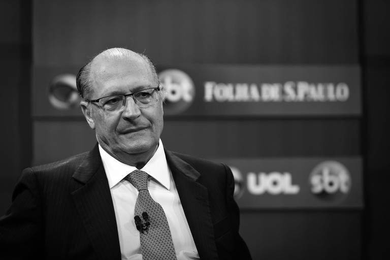 O ex-governador paulista Geraldo Alckmin, em sabatina Folha-UOL-SBT