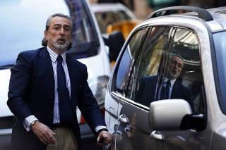 Businessman Francisco Correa arrives at Madrid's High Court