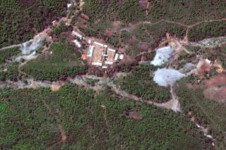 DigitalGlobe satellite image of North Korea's Punggye-ri nuclear test facility