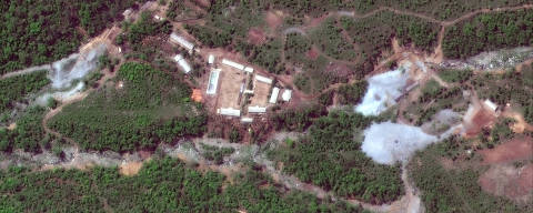 North Korea's Punggye-ri nuclear test facility is shown in this DigitalGlobe satellite image in North Hamgyong Province, North Korea, May 23, 2018.    Satellite image ©2018 DigitalGlobe, a Maxar company/Handout via REUTERS  ATTENTION EDITORS - THIS IMAGE HAS BEEN SUPPLIED BY A THIRD PARTY.  NO RESALES. NO ARCHIVES ORG XMIT: TOR371