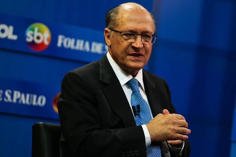 O pré-candidato tucano Geraldo Alckmin, que bateu boca com Jair Bolsonaro (PSL)