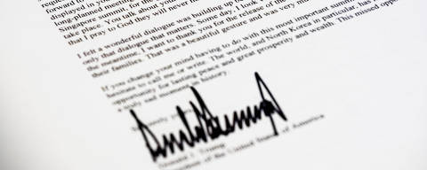 A copy of the letter sent to North Korean leader Kim Jong Un from President Donald Trump canceling their planned summit in Singapore is photographed in Washington, Thursday, May 24, 2018. (AP Photo/J. David Ake ORG XMIT: DCDA101