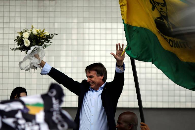 Presidenciável Jair Bolsonaro (PSL), autor de projeto que pune com prisão quem interditar vias públicas