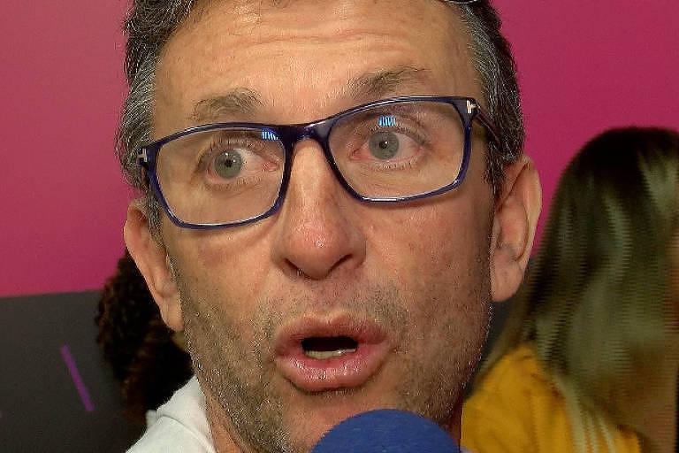 Ex-jogador e apresentador Neto dá entrevista durante evento em São Paulo