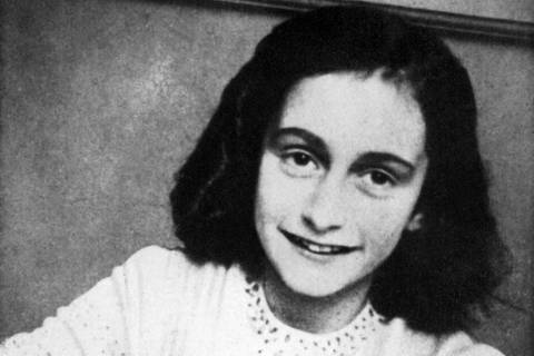 (FILES)-- A file picture released in 1959 shows a portrait of Anne Frank who died of typhus in the Bergen-Belsen concentration camp in May 1945 at the age of 15. Jewish teenager Anne Frank died in a Nazi concentration camp at least a month earlier than her official date of death, a new study said on March 31, 2015.