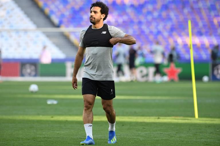 O egípcio Salah foi o jogador sensação o futebol inglês nesta temporada