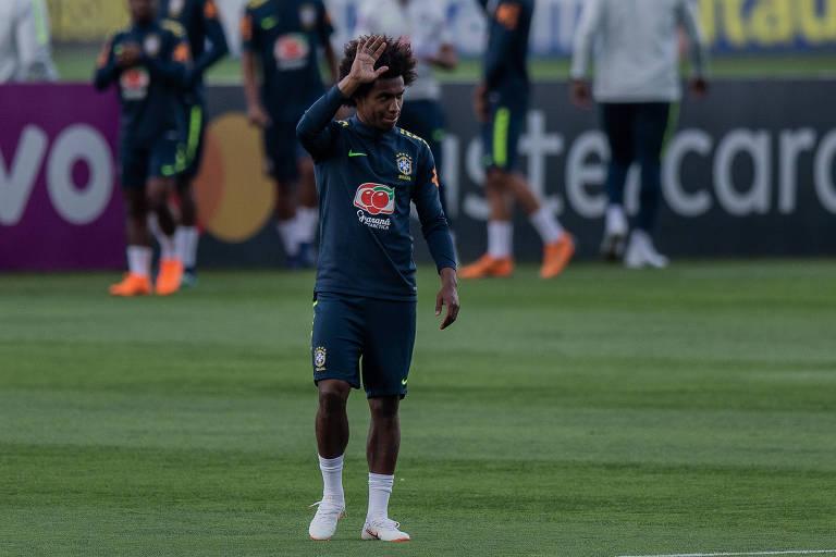 Treino da seleção brasileira 25.mai.18
