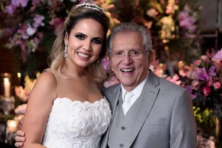 Renata Domingues e Carlos Alberto de Nóbrega se casam
