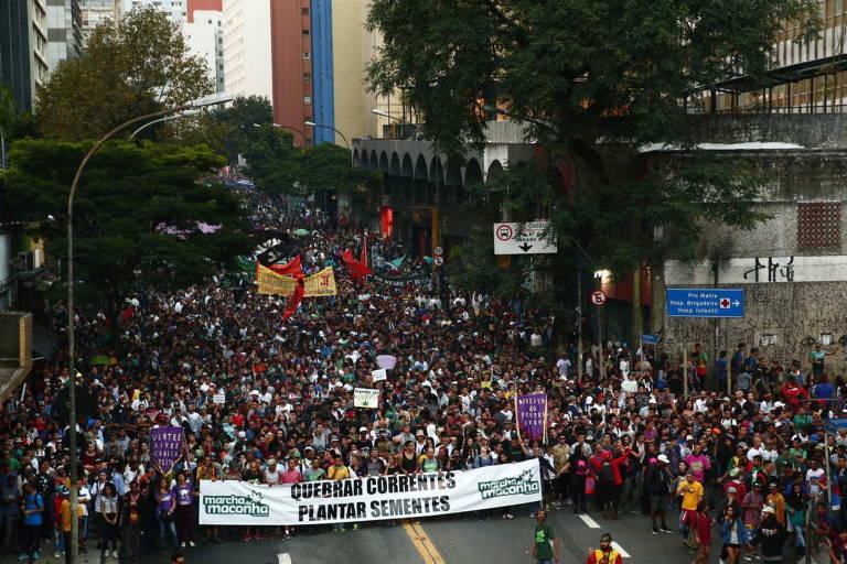 Edição de 2017 da marcha, que também ocorreu na avenida Paulista