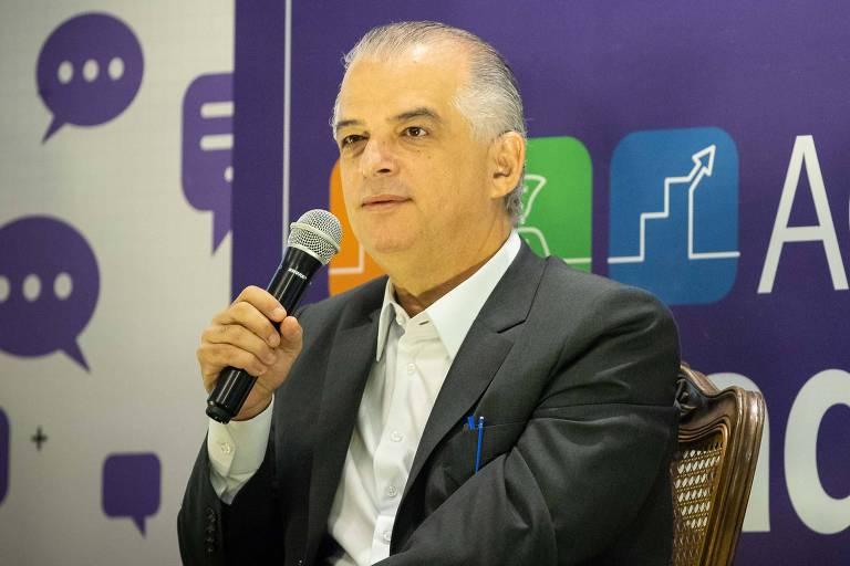 O Governador do Estado de São Paulo, Márcio França, em Araraquara