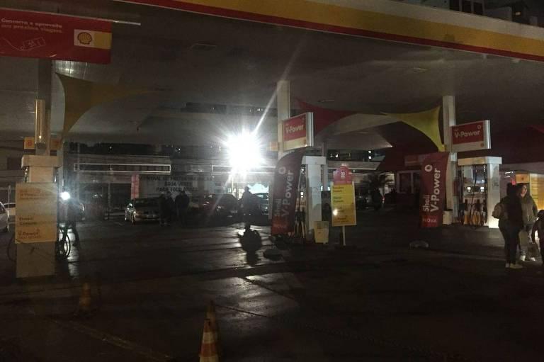 Posto de combustível em Curitiba sem gasolina