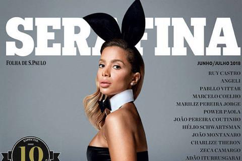 Reprodução de capa da Playboy com Anitta para especial da Serafina