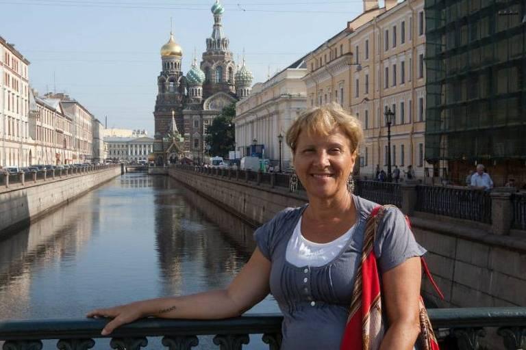 Iracema durante passagem pela Rússia
